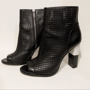 Calvin Klein BLACK leather Ankle Boots